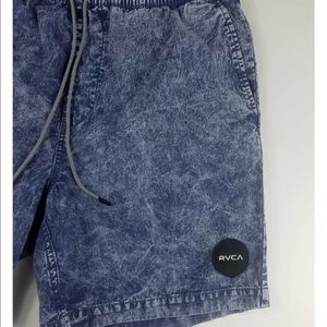 RVCA Shorts - RVCA Men's Acid Wash Stretch Waist Shorts Small